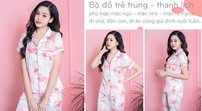 Pijama Tay Ngan Quan Dai Hoa Tiet Hac