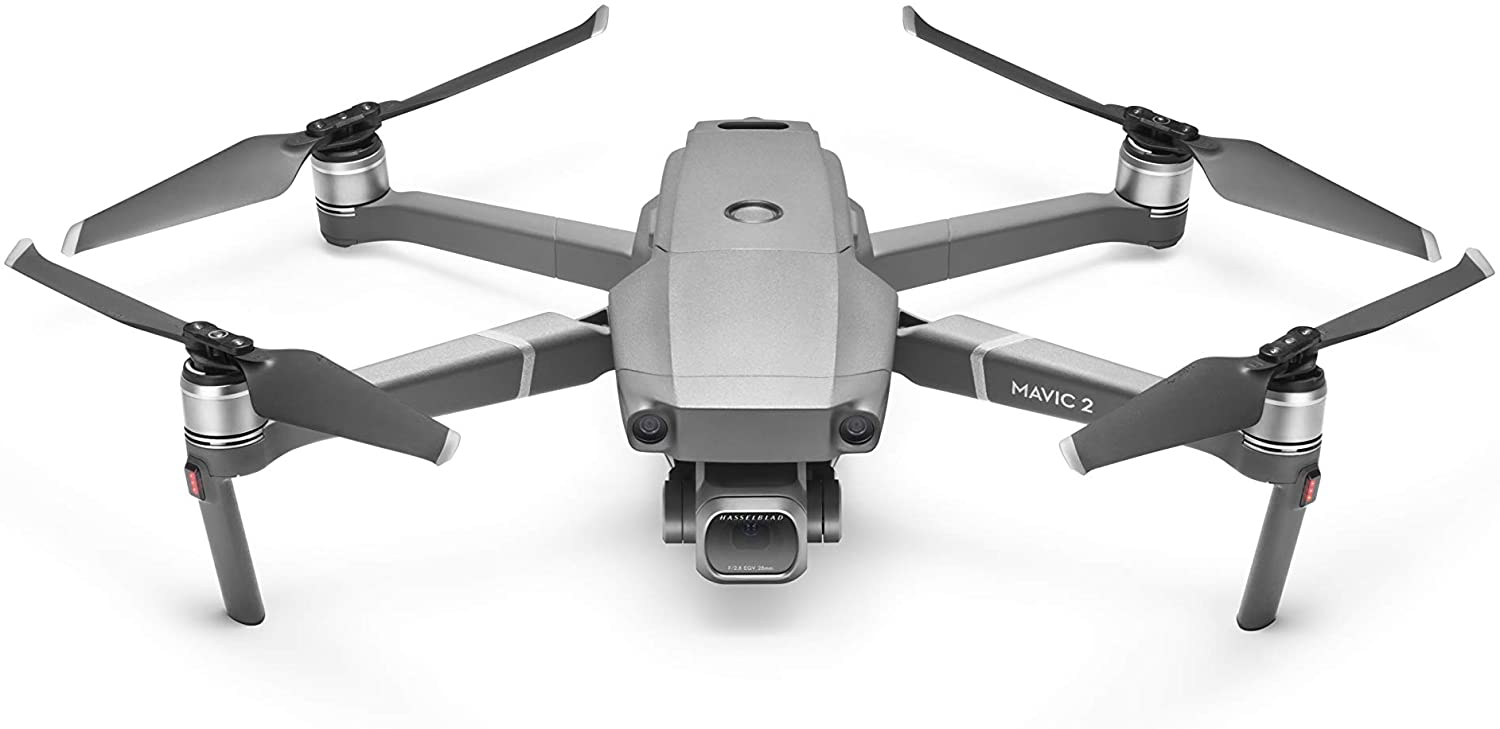 "Amazon.com: DJI Mavic 2 Pro - Drone Quadcopter UAV with Hasselblad Camera  3-Axis Gimbal HDR 4K Video Adjustable Aperture 20MP 1"" CMOS Sensor, up to  48mph, Gray: Camera & Photo"