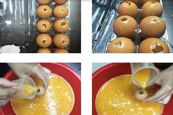 Cách làm hột gà nướng