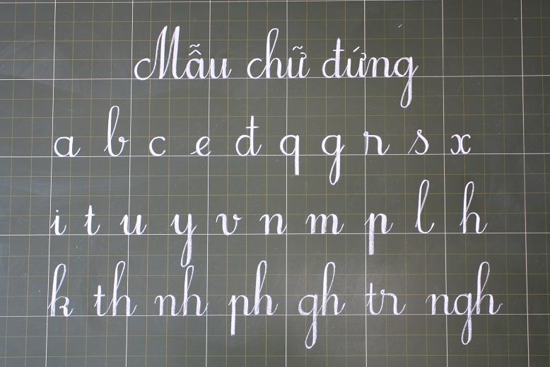 Luyện viết chữ đẹp đúng cách