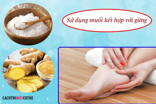 cách trị mồ hôi tay chân bằng muối