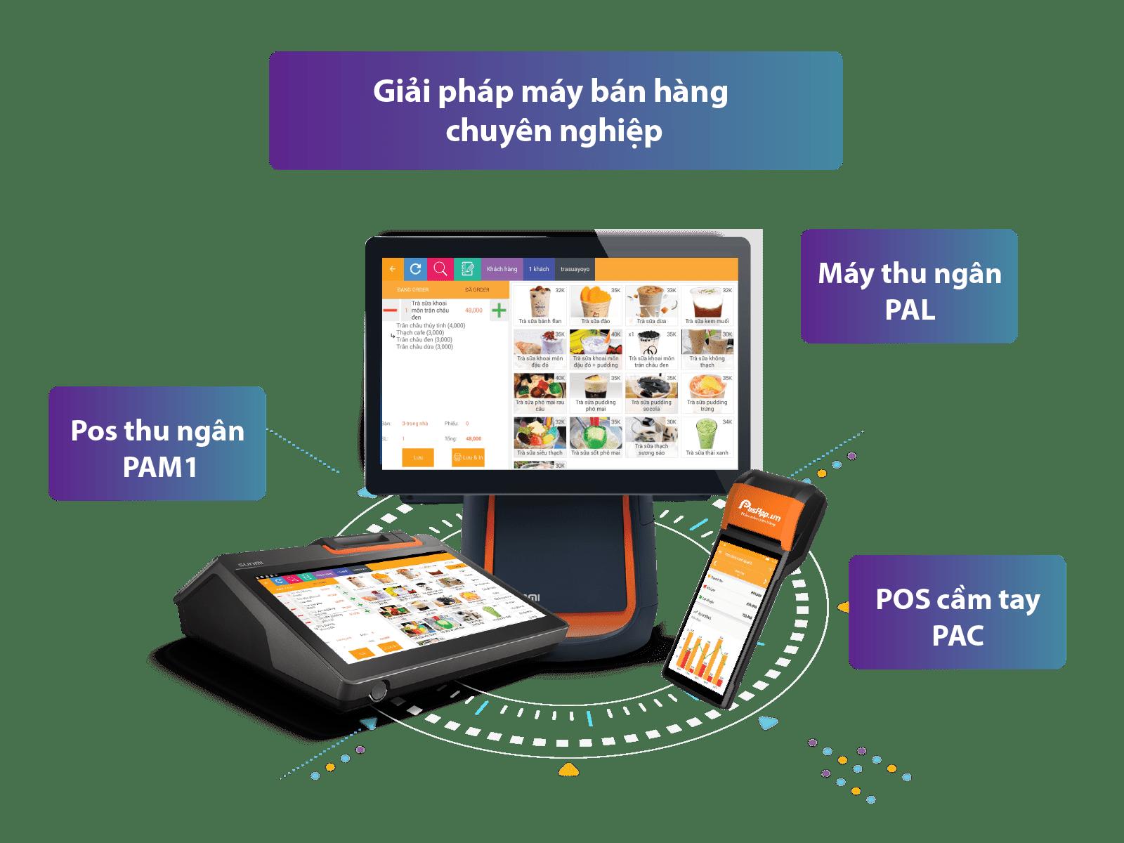 Máy thu ngân order bán hàng cảm ứng chuyên nghiệp   PosApp