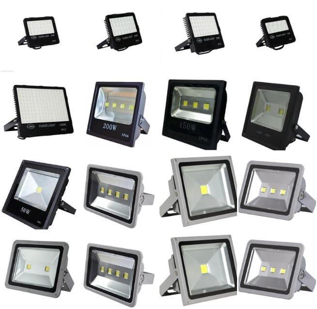 Đèn pha LED đa dạng công suất, đa dạng kiểu dáng