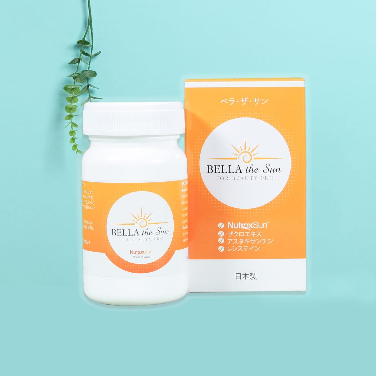 Viên Uống Chống Nắng Trắng Da Bella The Sun For Beauty Pro Nhật Bản
